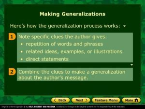 tecademics-generalization